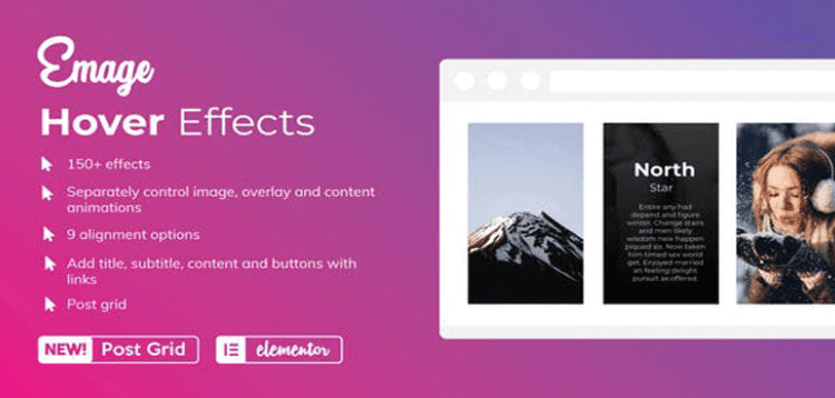 Item cover for download Emage - Image Hover Effects for Elementor