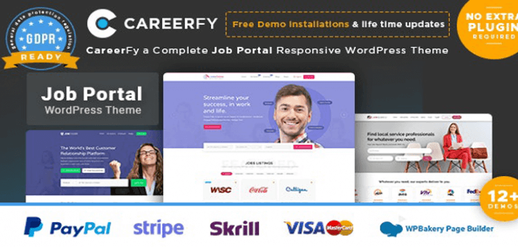 Item cover for download Careerfy - Job Board WordPress Theme