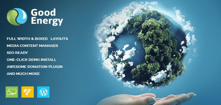 Item cover for download Good Energy - Ecology  Renewable Power Company WordPress Theme