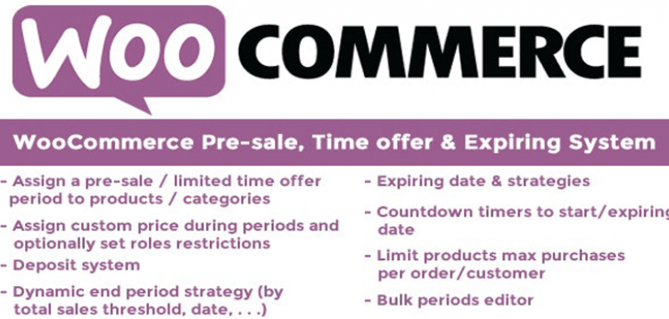 Item cover for download WooCommerce Pre-sale, Time offer  Expiring System