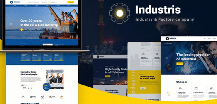 Item cover for download Industris - Factory  Business WordPress Theme