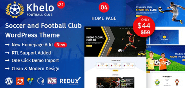 Item cover for download Khelo - Soccer WordPress Theme