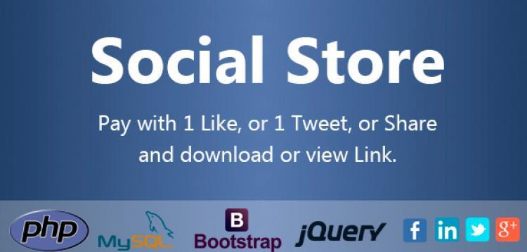Item cover for download Social Store - Pay with Action in Social Network