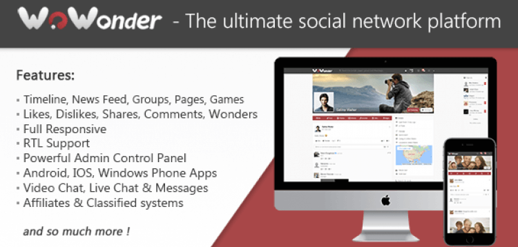 Item cover for download WoWonder - The Ultimate PHP Social Network Platform NULLED