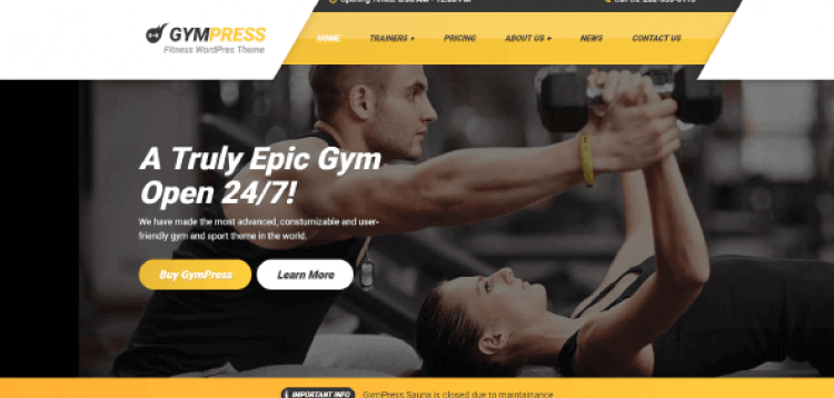 Item cover for download GYMPRESS – WORDPRESS THEME FOR LOCAL GYM, FITNESS OR PERSONAL TRAINER