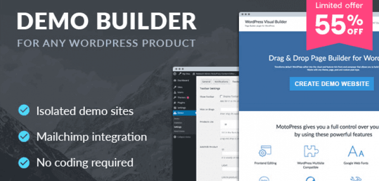 Item cover for download DEMO BUILDER FOR ANY WORDPRESS PRODUCT