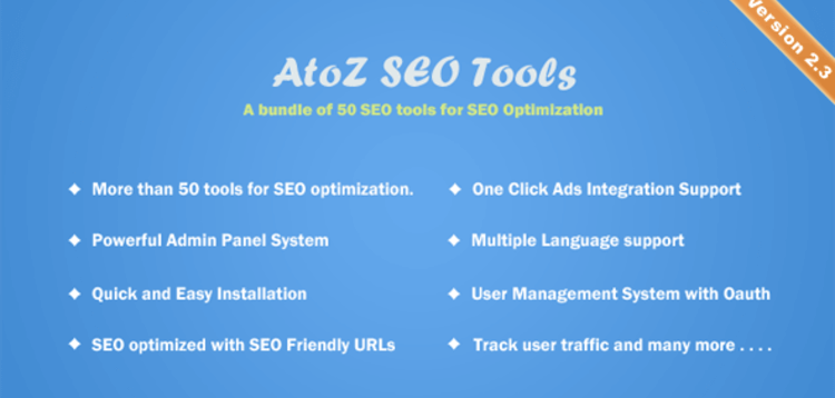 Item cover for download ATOZ SEO TOOLS – SEARCH ENGINE OPTIMIZATION TOOLS