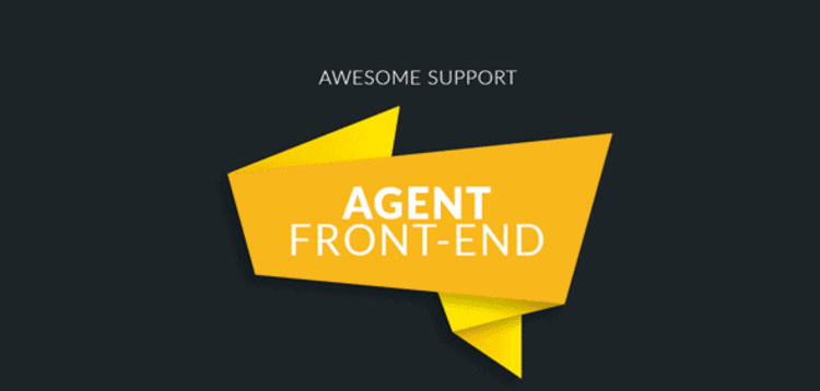 Item cover for download AWESOME SUPPORT – AGENT FRONT-END