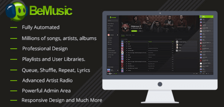 Item cover for download BEMUSIC – MUSIC STREAMING ENGINE