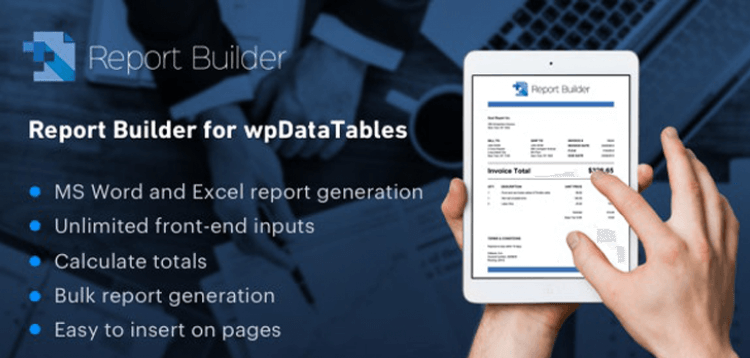 Item cover for download Report Builder add-on for wpDataTables - Generate Word DOCX and Excel XLSX documents