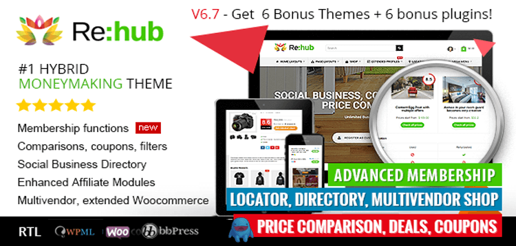 Item cover for download REHub - Directory, Shop, Coupon, Affiliate Theme