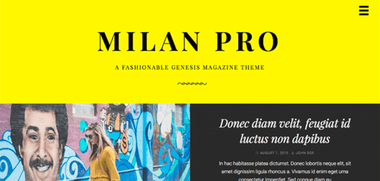 Item cover for download STUDIOPRESS MILAN PRO