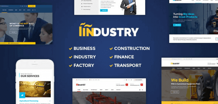 Item cover for download INDUSTRY – BUSINESS FACTORY CONSTRUCTION TRANSPORT  FINANCE WORDPRESS THEME