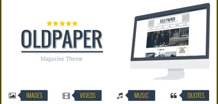 Item cover for download OLDPAPER – ULTIMATE MAGAZINE  BLOG THEME