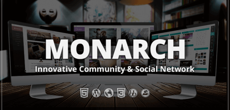 Item cover for download MONARCH – INNOVATIVE WORDPRESS COMMUNITY THEME