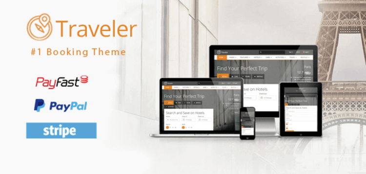 Item cover for download TRAVELER – TRAVEL TOUR BOOKING WORDPRESS THEME