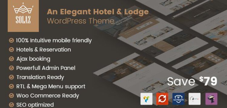 Item cover for download SOLAZ - AN ELEGANT HOTEL  LODGE WORDPRESS THEME