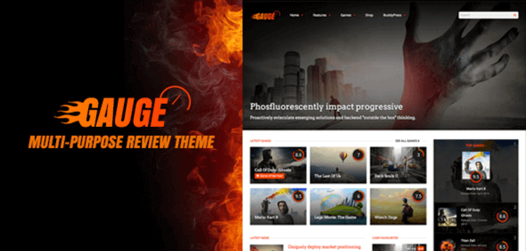 Item cover for download GAUGE – MULTI-PURPOSE REVIEW THEME