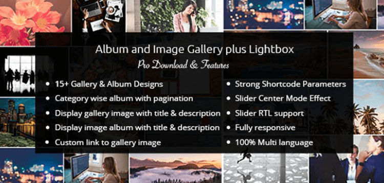 Item cover for download WP OnlineSupport Album and Image Gallery Plus Lightbox