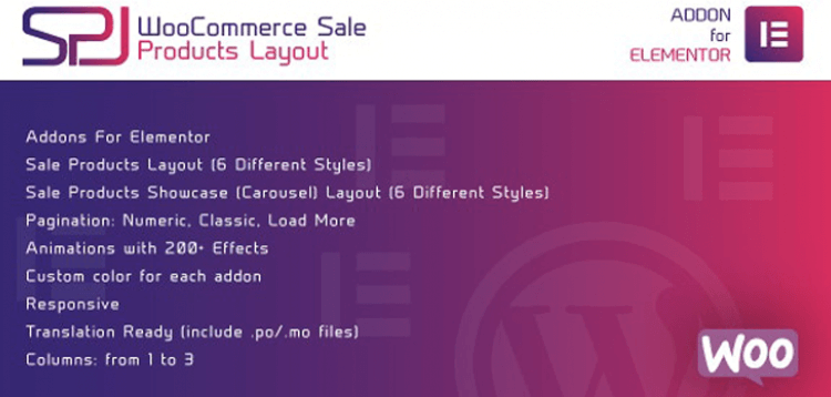Item cover for download WooCommerce Sale Products Layout for Elementor WordPress Plugin