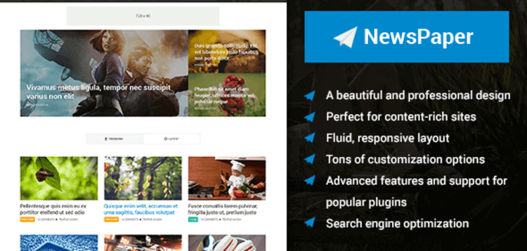 Item cover for download NEWSPAPER – BEAUTIFUL MAGAZINE WORDPRESS THEME