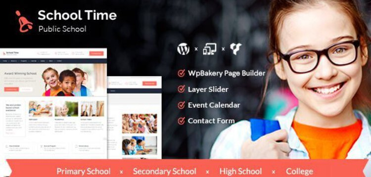 Item cover for download SCHOOL TIME - MODERN EDUCATION WORDPRESS THEME