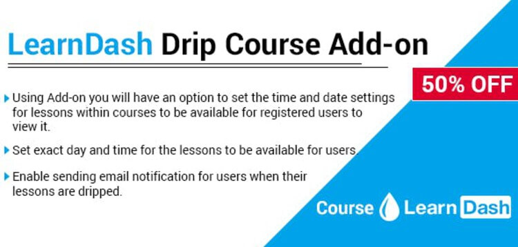 Item cover for download LEARNDASH DRIP COURSE ADD-ON