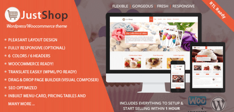 Item cover for download JUSTSHOPPE – ELEMENTOR CAKE BAKERY WORDPRESS THEME