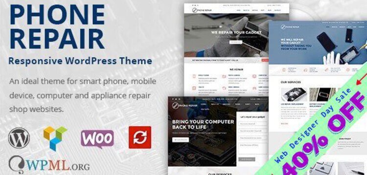 Item cover for download PHONE REPAIR - MOBILE, CELL PHONE AND COMPUTER REPAIR WORDPRESS THEME