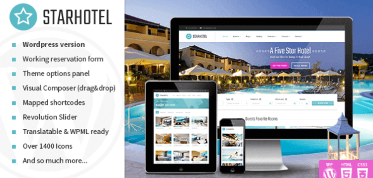 Item cover for download STARHOTEL – RESPONSIVE HOTEL WORDPRESS THEME