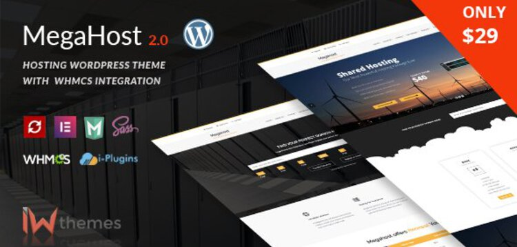 Item cover for download HOSTING WORDPRESS THEME WITH WHMCS - MEGAHOST