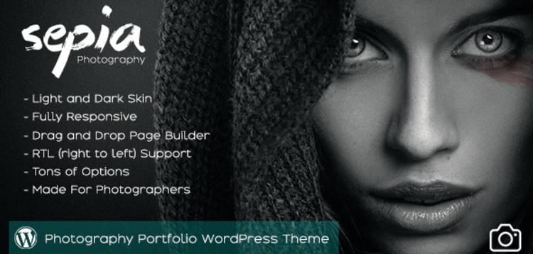 Item cover for download SEPIA - PHOTOGRAPHY PORTFOLIO WORDPRESS THEME
