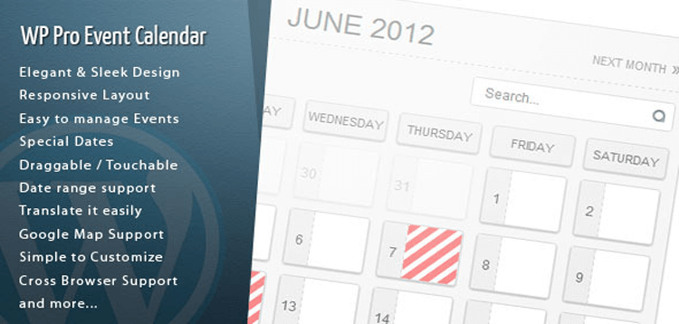 Item cover for download Wordpress Pro Event Calendar
