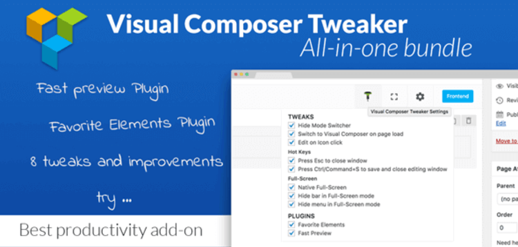 Item cover for download VC TWEAKER – VISUAL COMPOSER PRODUCTIVITY ADD-ON