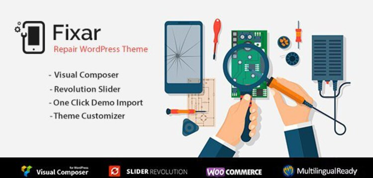 Item cover for download Fixar - Phone & Computer Repair Theme