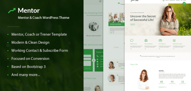 Item cover for download MENTOR – PERSONAL DEVELOPMENT COACH WORDPRESS THEME