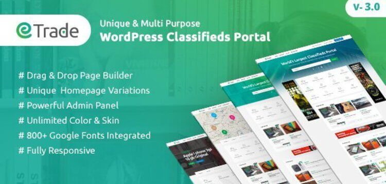Item cover for download TRADE - MODERN CLASSIFIED ADS WORDPRESS THEME