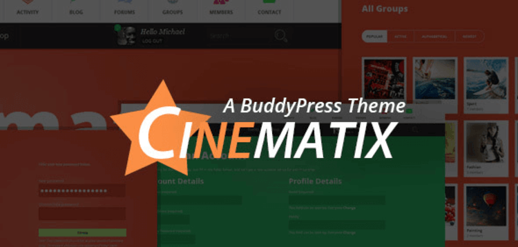 Item cover for download CINEMATIX – BUDDYPRESS THEME