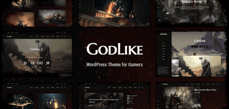 Item cover for download GODLIKE – GAME THEME FOR WORDPRESS