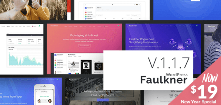 Item cover for download FAULKNER - RESPONSIVE MULTIUSE WORDPRESS THEME FOR COMPANIES AND FREELANCERS