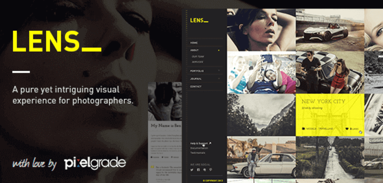 Item cover for download LENS – AN ENJOYABLE PHOTOGRAPHY WORDPRESS THEME