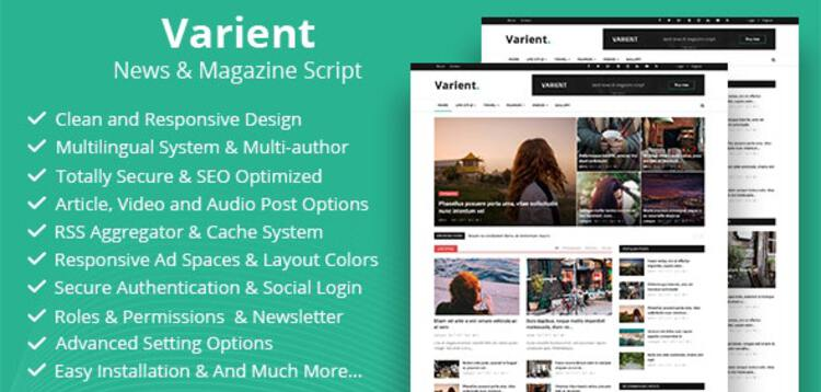 Item cover for download Varient - News  Magazine Script - UPDATE LIFETIME