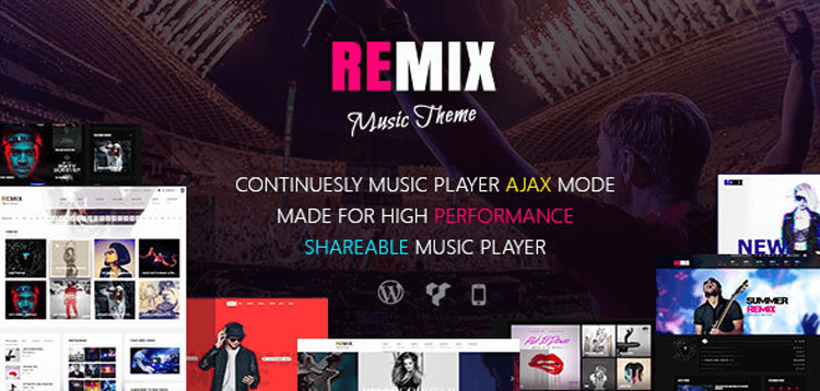 Item cover for download Remix - Professional Music and Musician Ajax WP Theme