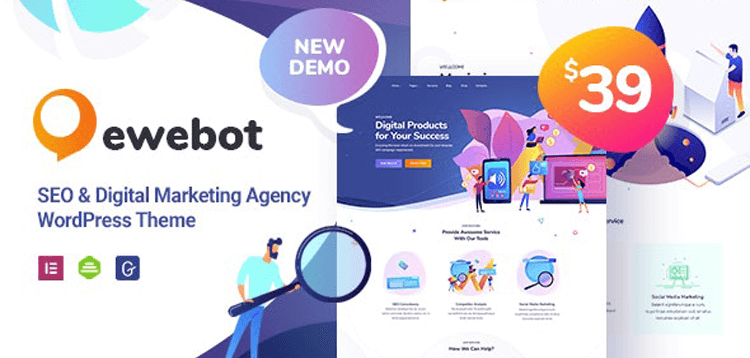 Item cover for download Ewebot - Marketing SEO Digital Agency