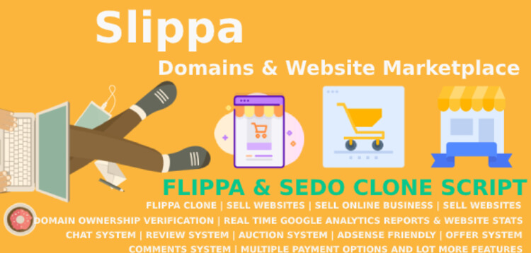 Item cover for download Slippa - Domains  Website Marketplace PHP Script