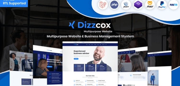Item cover for download Dizzcox - Multipurpose Website  Business Management System CMS