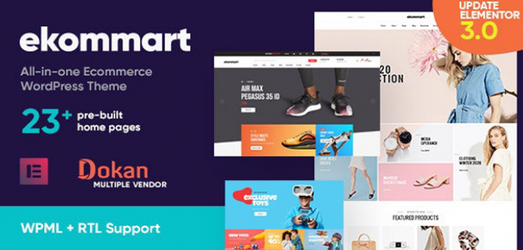 Item cover for download ekommart - All-in-one eCommerce WordPress Theme