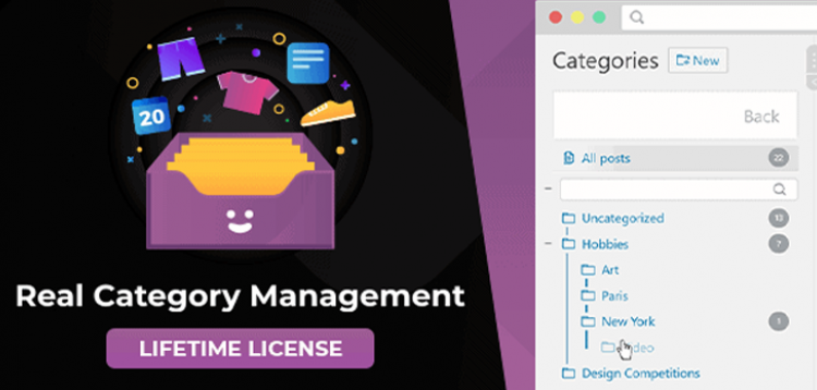 Item cover for download WordPress Real Category Management: Content Management in Category Folders with WooCommerce Support