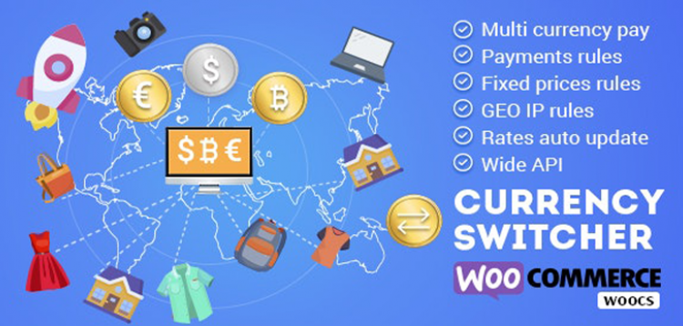 Item cover for download WOOCS - WooCommerce Currency Switcher - WooCommerce Multi Currency and WooCommerce Multi Pay