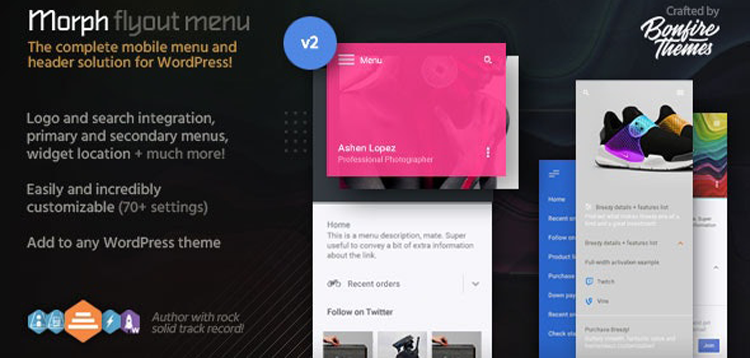 Item cover for download Morph: Flyout Mobile Menu for WordPress